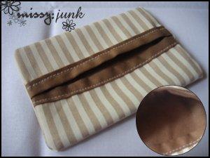 Brown Stripes Tissue Pochette (B)