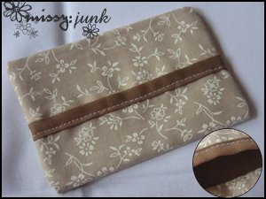 Brown Floral Tissue Pochette