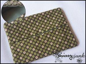 Green Floral Tissue Pochette