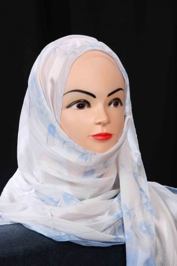 Hijab with strips.