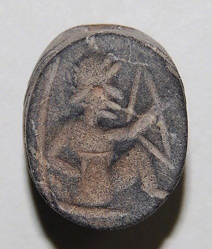 PHOENICIAN STEATITE SCARAB OF A WARRIOR