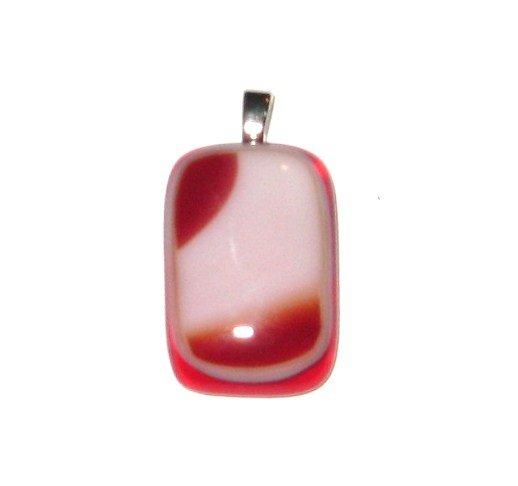 Spirit Red Pendant - Handmade Fused Glass