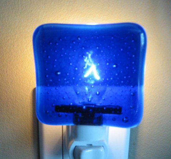 Blue Light Special - Handmade Fused Glass