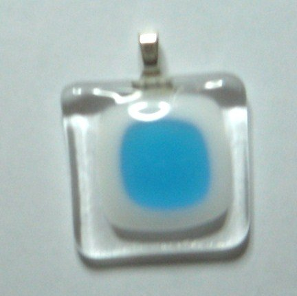 Cloud Nine Window Pendant - Handmade Fused Glass