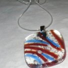 Clearly Hot and Cold Pendant - Handmade Fused Glass