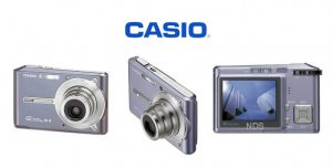 Casio Exilim 6 MegaPixels Credit Card Size Digital Camera,3x Optical Zoom and 2.2inch LCD