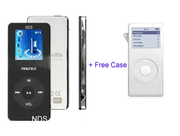 MusicLot - 1GB Ultra Slim Portable Color MP3 Player with FM Tuner (Black)