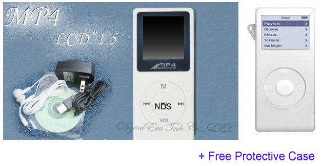 MusicLot - 1GB Ultra Slim Portable Color MP3 Player with FM Tuner (White)