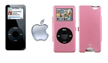 Apple iPod Nano 4GB with Pink Metal Case