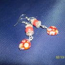 Red Heart dangle earrings