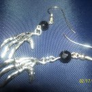 Gothic Skeletal Hand Earrings