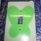 green butterfly light switch plate