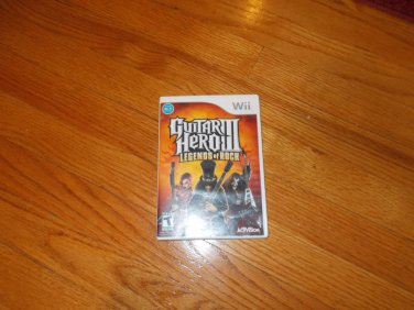 Wii Guiter Hero III  casette, DVD, Game, CD