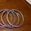 Set of 4 Bangles each color size  2.2 and 2.4