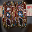 Set of 6 Bangles each color size  2.2 and 2.4