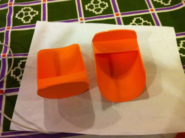 NEW Tupperware Lot of 2 scops orange color