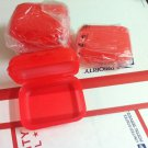 Tupperware New  snack box/ packables square Set of 4 guava color