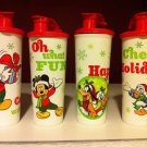 Tupperware Disney Mickey Minnie Goofy Donald Holiday Cheer Tumblers & Pour Seals