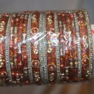 Big lot of 20 chudis, Bridal Bangles each color size 2.0, 2.2, 2.4,2.6