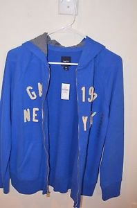 BIG KIDS14-16-  size SWEATshirt with hood--Gap--BLUE
