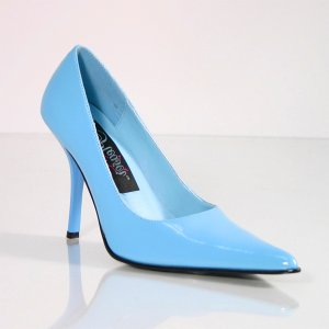 NEW SEXY BLUE STILETTO HIGH HEEL POINTED TOE PUMPS - SIZE 9