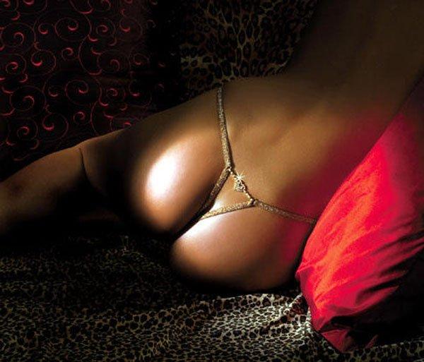 SEXY XSTRINGS GOLD MESH G-STRING W RHINESTONE HEART - ONE SIZE