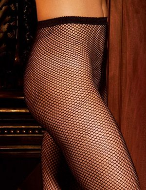 SHEER SEXY FISHNET NYLON PANTYHOSE* BLACK RED WHITE* OS