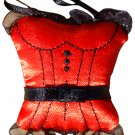 SET OF THREE 3 SEXY CORSET BUSTIER STYLE SATIN LINGERIE SACHETS