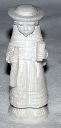 Peruvian Huamanga Peru Stone Figure - Girl w/Instrument (click for full image)
