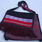 Purse Woven Fabric Alpaca/Wool Peruvian Multi-Color  Browns and Reds
