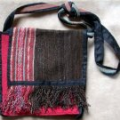 "Alpaca Fabric Purse Handmade in Peru 11"" x 11"" Brown and Pinks"