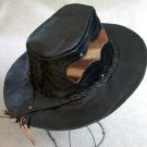 Leather Cowboy Hat Alpaca Black