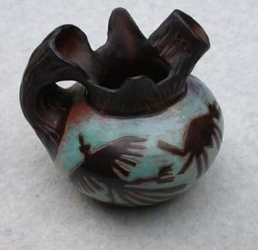 Peruvian Chulucanas Pottery  Nazca Design Pitcher