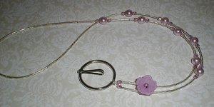 Lilac Swarovski Beaded Crystal Lanyard