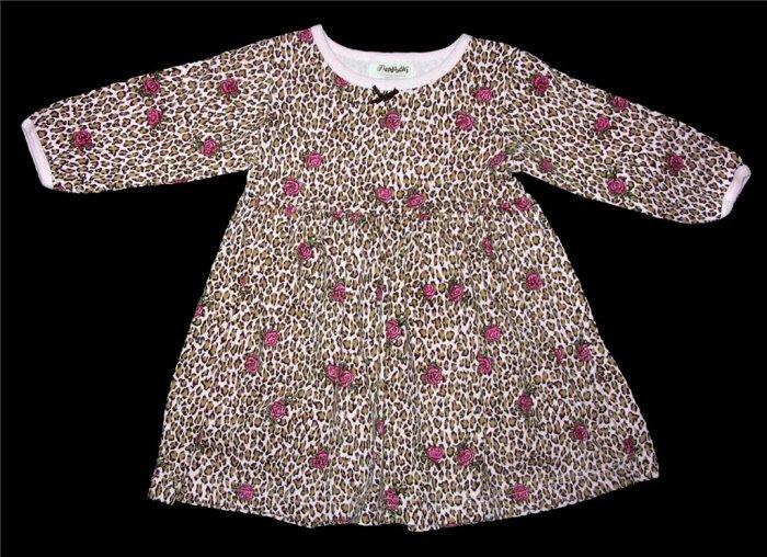 FLAPDOODLES Leopard Print & Roses Dress 18 18M GUC