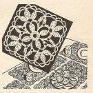 Crochet - Motif for Placemat or Tablecloth (ref: e1016c)