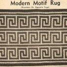 Crochet - Modern Motif Rug  (ref: e1024c)