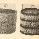 Crochet - Glass Muffs (ref: e1035c)