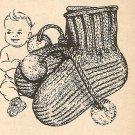 Knit  - Perky Baby Bootees (ref: e1044k)