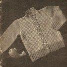 Knit  - Infant's Cardigan Sweater (ref: e1052k)