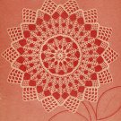 Crochet - Round Shell Doily (ref: e1105c)