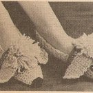 Crochet - Pink Poodle Slippers (ref: e1121c)