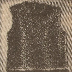 Knit  - Shell in Diamond Pattern (ref: e1128k)