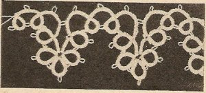 Tatted - Cloverleaf Scallop Edging (ref: e1142t)