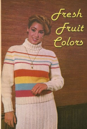Knit  - Colorful Turtleneck Sweater (ref: e1164k)
