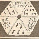 Crochet - Musical Note Christmas Tree Skirt (ref: e1169c)