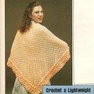 Crochet - Easy Lightweight Shawl with Ruffles (ref: e1187c)