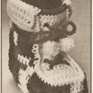 Crochet - Christmas Boot (ref: e1195c)