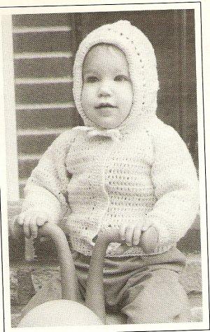 Crochet - Toddler's Mock Raglan Sweater (ref: e1203c)