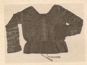 Crochet - Embroidered Drawstring Blouse (ref: e1207c)